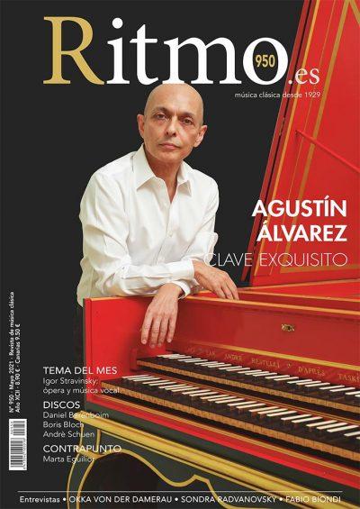 AGUSTÍN ÁLVAREZ portada de la Revista Ritmo de Mayo 2021